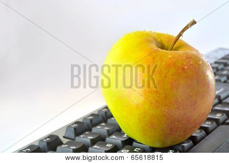 Apple On The Keyboard