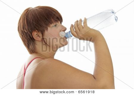 Young Woman With Water Bottle