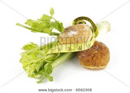 Celery And Jam Doughnut With Tape Measure