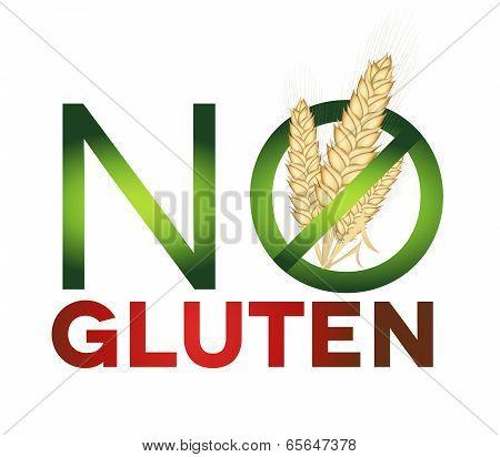 Gluten Free Sign, Health Care Diet