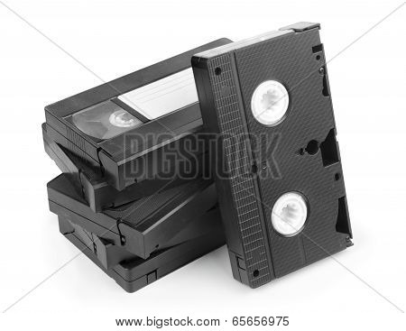 Video Cassette on white background