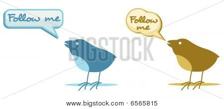 two birds with follow me cloud for chat poster
