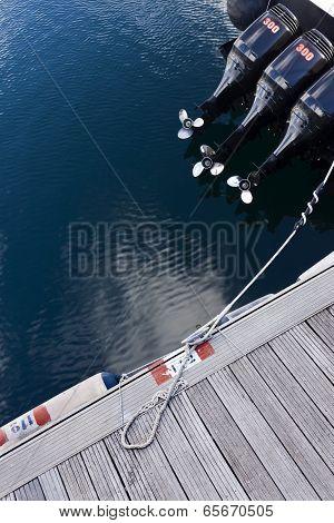 Motorboat In Pier.