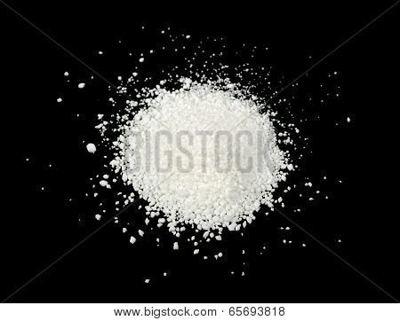 Citric Acid On Black Background