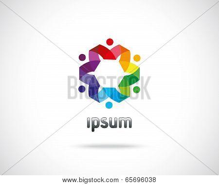 Abstract Vector Emblem Design Template