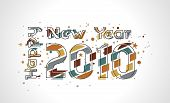 Xmas snow background with  new year 2010  in rainbow background. Vector illustration poster