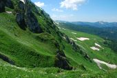 This is beautiful mountain landscape northern caucasia. poster