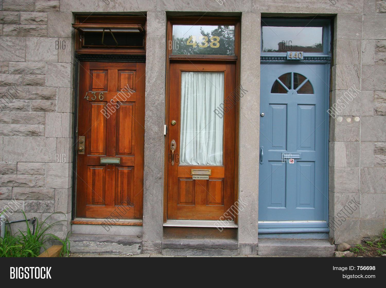 3 Different Doors & 3 Different Doors Image u0026 Photo (Free Trial)   Bigstock