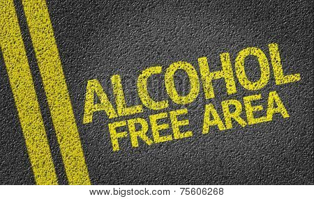 Alcohol Free Area written on the road