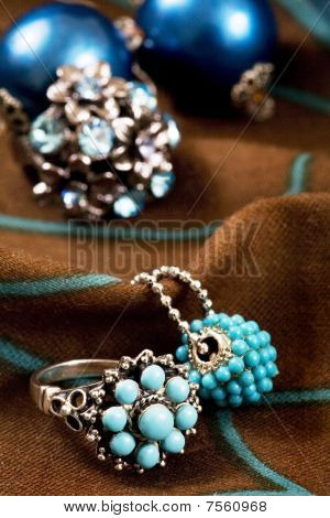 Rings In Blue And Green
