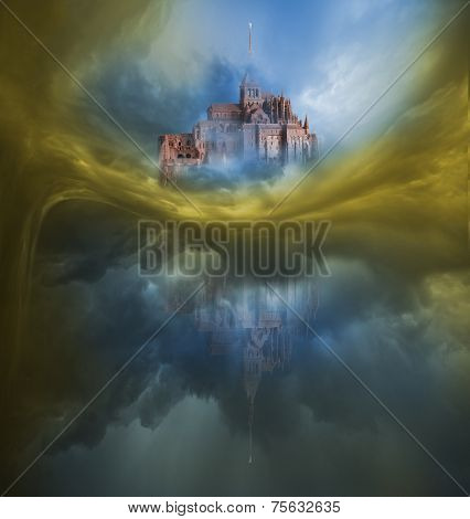 Colorful Clouds Variation with Mont Saint Michel