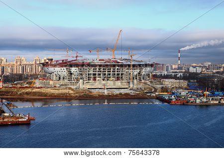 Soccer Stadium Under Construction