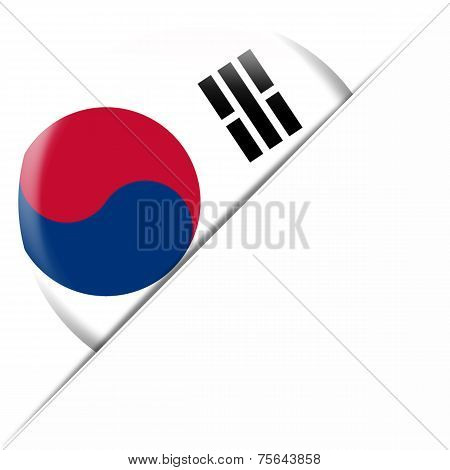 South Korea Pocket Flag