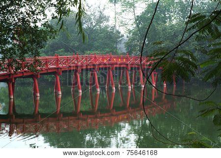 Red Bridge In Hanoi.