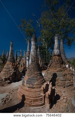 Ancient Buddhist Temple In The Area Of The Famous Inle Lake In Myanmar.