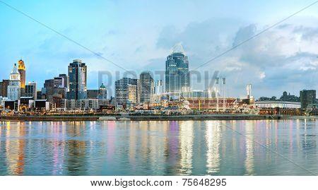 Cincinnati Downtown Panoramic Overview