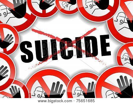 No Suicide Abstract Concept