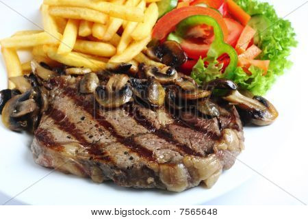 Grilled Ribeye Steak Dinner