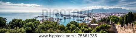 Panorama Of Malaga Seaport