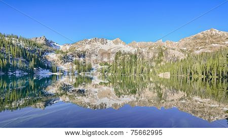 Alpine Lake Reflection, Sawtooth National Recreation Area, near Stanley, Idaho poster