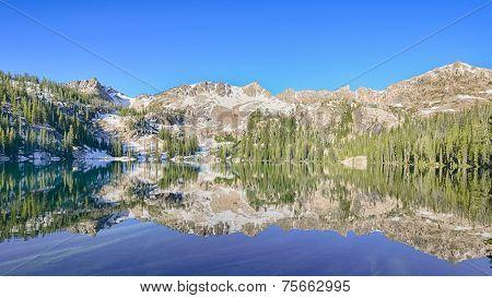Alpine Lake Reflection, Sawtooth National Recreation Area, near Stanley, Idaho poster