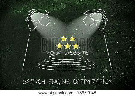 Seo, Search Engine Optimization, Spotlight Design