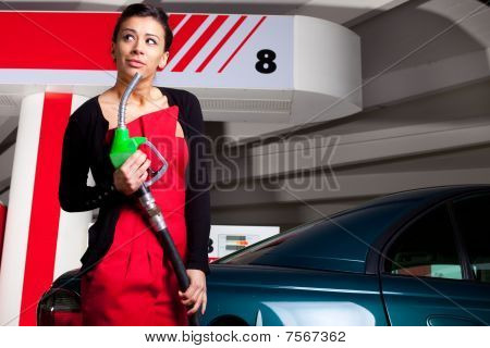 Fuel Station Woman