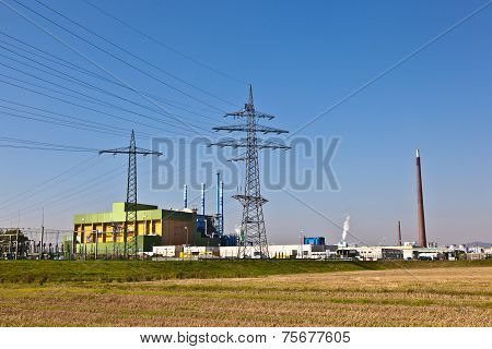 Buildings Of An Industry Park In Beautiful Landscape
