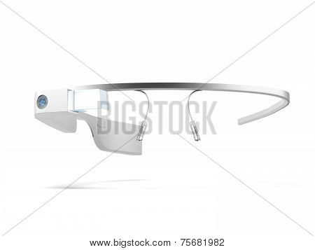 MOSCOW, RUSSIA - NOVEMBER 09, 2014. 3D rendering of Google Glass