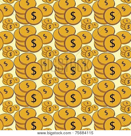 Golden Treasure. Dollar Coins