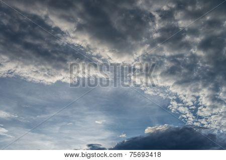 Sunset Sky With Altocumulus Cloud