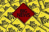 Big News written on multiple road sign  poster