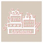 I wish you a very Merry Christmas.  Vector illustration. poster