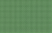 Computer-generated basket weave pattern in green and white on dark background. poster