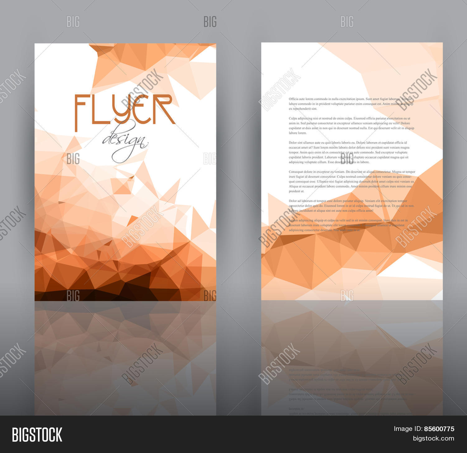 Double Sided Flyer Vector Photo Free