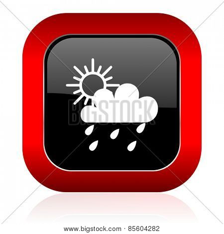 rain icon waether forecast sign  poster