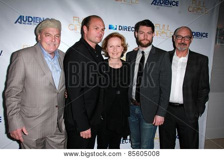 LOS ANGELES - MAR 16:  Stacy Keach, Chris Bauer, Kate Burton, Patrick Fugit, Terry O'Quinn at the DirecTV's