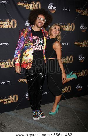 LOS ANGELES - MAR 16:  Redfoo, Emma Slater at the
