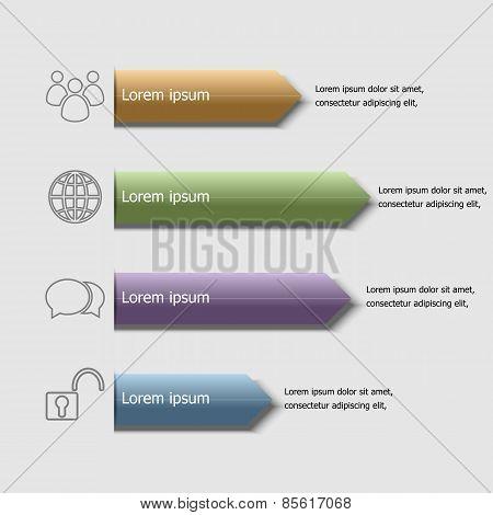 Arrow Badge Infographic Design Template