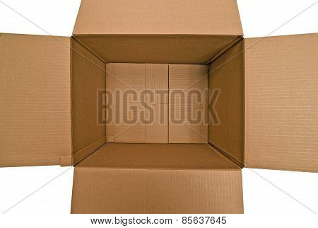 Over Head Shot Of Empty Box