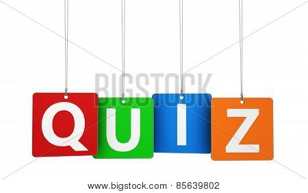 Quiz Sign Tags