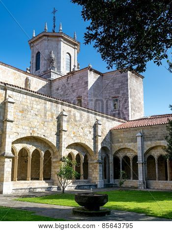 Santander Cathedral, Arches And Inside Facade From The Cloister