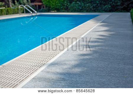 swimming pool with stones