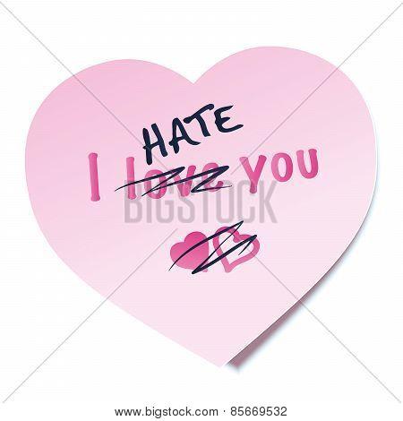 I Hate You Sticky Note