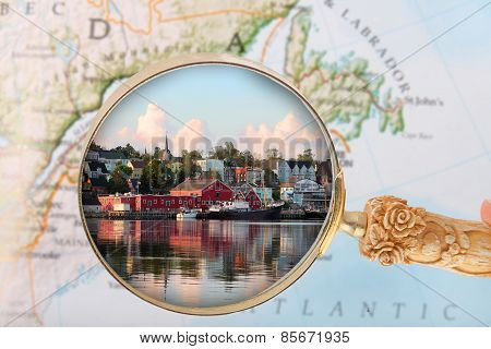 Looking In On Lunenburg, Nova Scotia