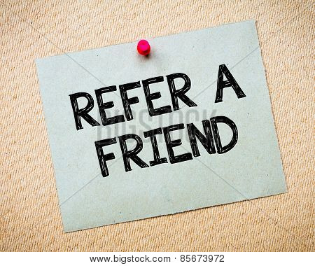 Refer A Friend Message