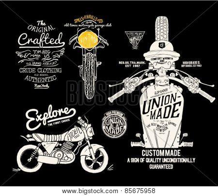 old vintage motor label motor set 2