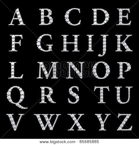 Diamond Alphabet, Letters From A To Z,