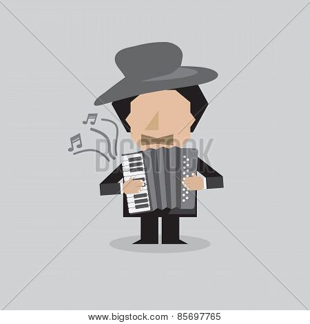 Musician Accordion Man.