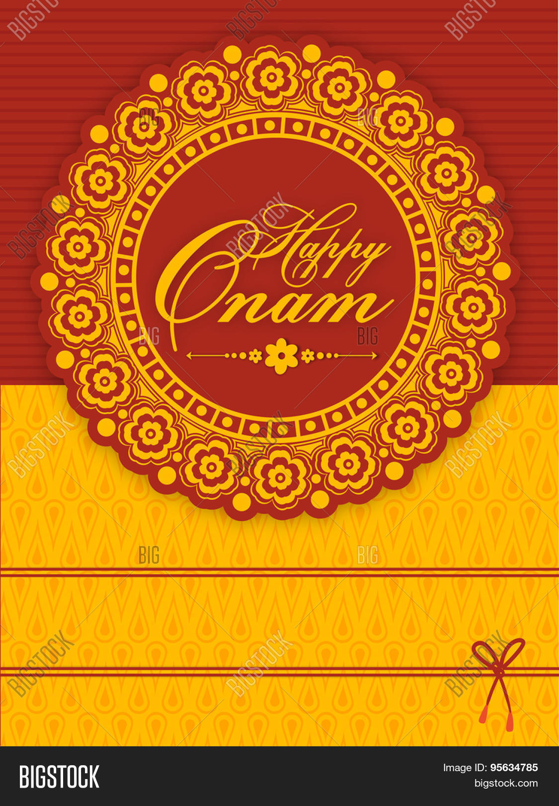 Beautiful floral design decorated vector photo bigstock beautiful floral design decorated greeting or invitation card for south indian famous festival happy onam kristyandbryce Image collections